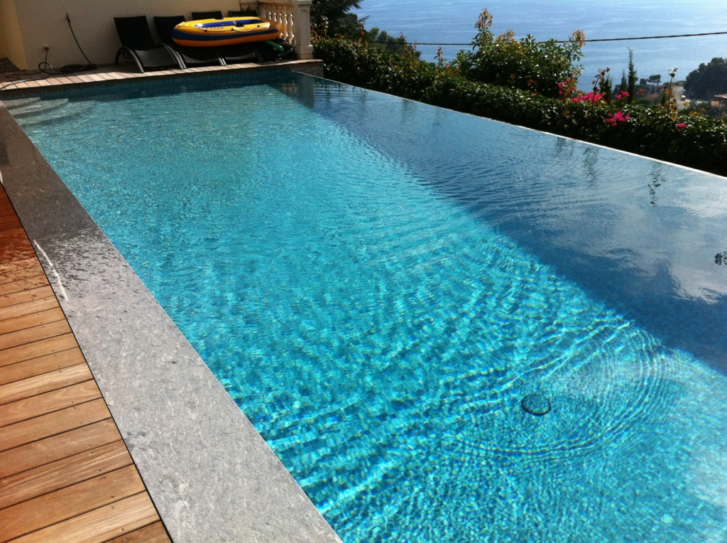 Margelle d billard gris anthracite grasse alpes maritimes for Type de margelle piscine