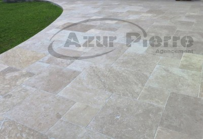 terrasse travertin beige